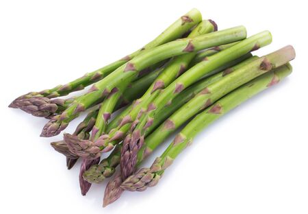 fresh asparagus isolated on white background Foto de archivo
