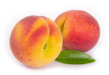 fresh peaches isolated on white background Stock fotó
