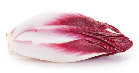 red chicory isolated on white background