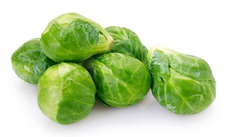 brussels sprouts isolated on white background Imagens