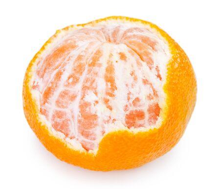 fresh mandarine isolated on white background closeup Stock fotó