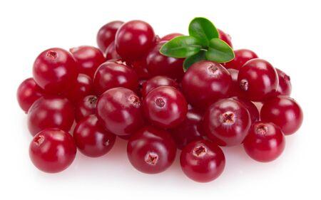 fresh cranberry isolated on white background closeup