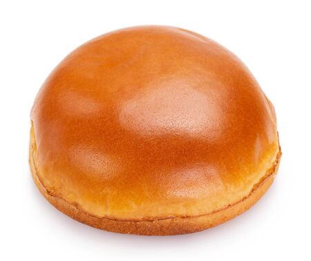 hamburger bun isolated on white background closeup