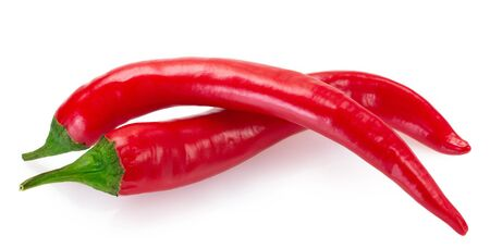 chili pepper isolated on white background closeup