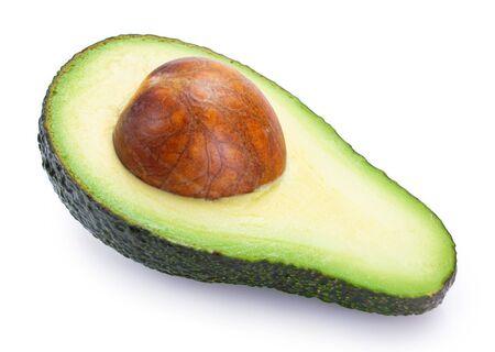 fresh avocado isolated on white background closeup 스톡 콘텐츠
