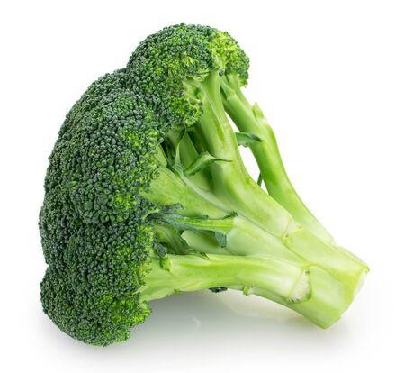 fresh broccoli isolated on white background closeup 스톡 콘텐츠