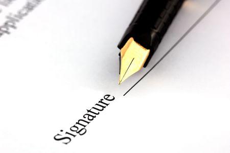 Close-up of a fountain pen Stock Photo - 1282016