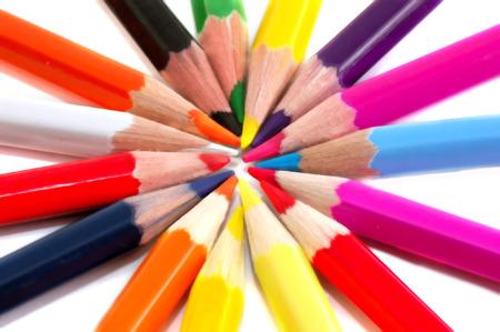 closeups: colored pencils Stock Photo