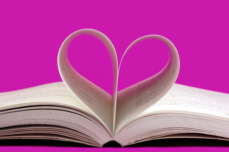 pages of a book curved into a heart shape Stock Photo - 1430947