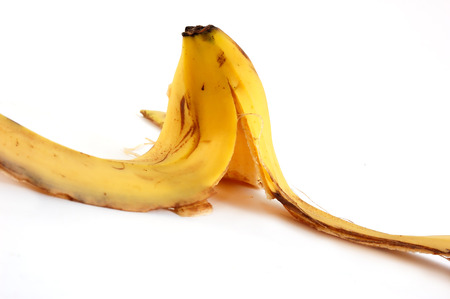 peel of a banana on white background Stock Photo - 1430942
