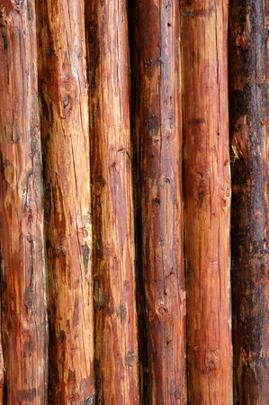 Logs in the wall of old russian izba  Stock Photo - 1430995