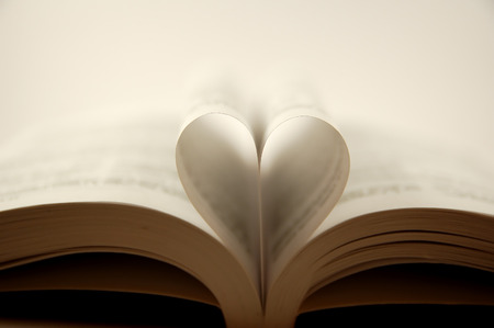 pages of a book curved into a heart shape Stock Photo - 1527063