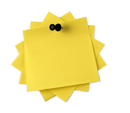 Yellow adhesive note  isolated Stock Photo - 1527039