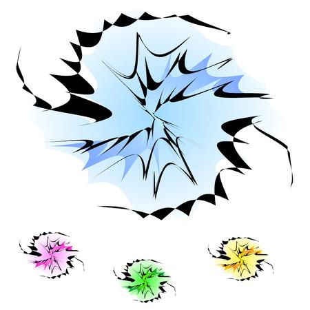 prickles: sfondo astratto spirale (vector)