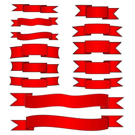 Red banners set Stock Vector - 1657355