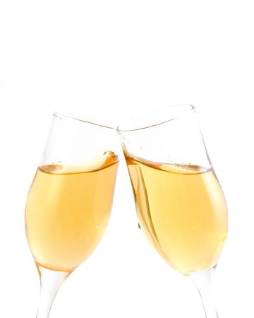 Celebration toast with champagne photo