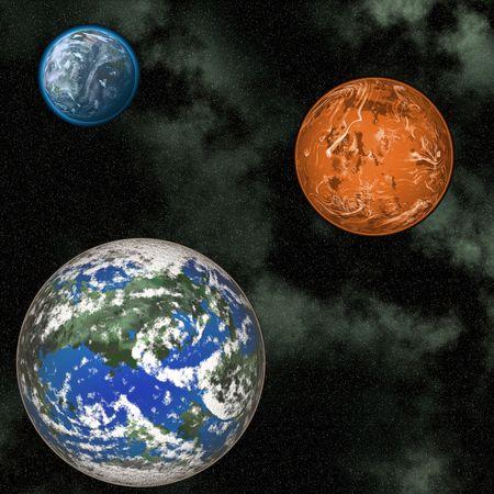 illustrates: Planets Stock Photo