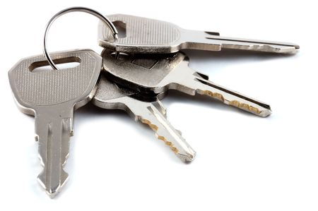 a bunch of keys isolated against a clean white bac Stock Photo - 1944404