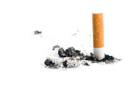 cigarette on white