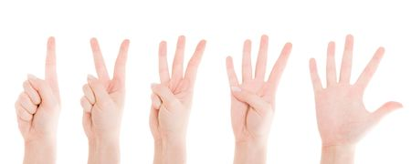 Counting Hands from one to five Stock Photo - 2995151