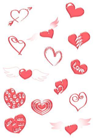 cute tattoo: Red hearts