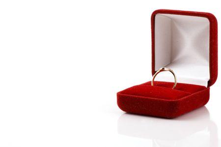 ring on white background Stock Photo