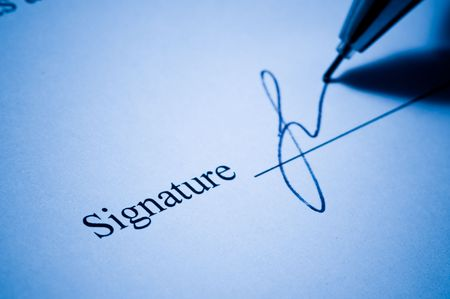 autograph: Close-up of a  pen Stock Photo