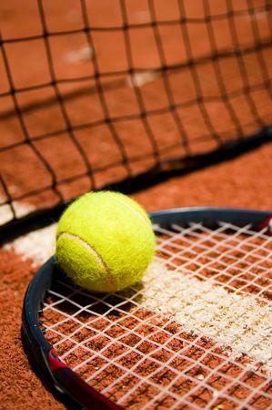 Tennis ball on the court Stock Photo - 3635968