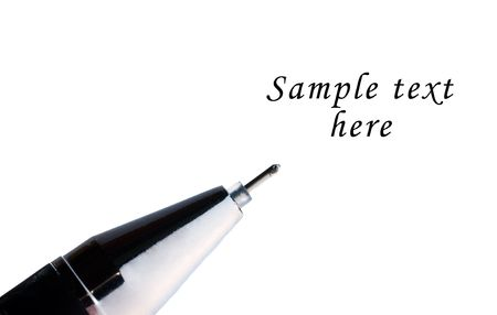 autograph: Close-up of a  pen isolated over a white background Stock Photo