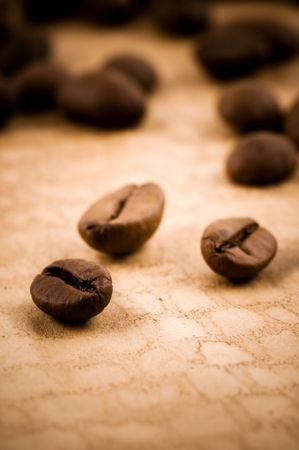 Coffee beans. grunge background abstract photo