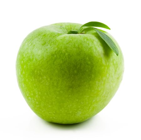 green apple isolated on white Stock Photo - 3743051