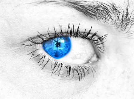 clarity: Human eye. macro shooting