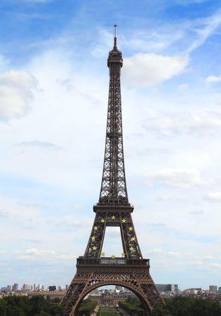 Paris, the beautiful Eiffel Tower. Stock Photo - 4018736