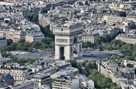 Arc de triumph from the tour eiffel Stock Photo - 4018750