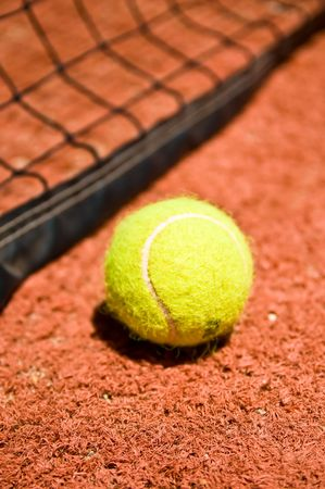 Tennis ball on the court Stock Photo - 4018731