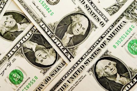 schein: Money background - one american dollars