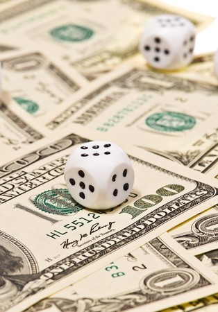 enrich: Pair of dice on money