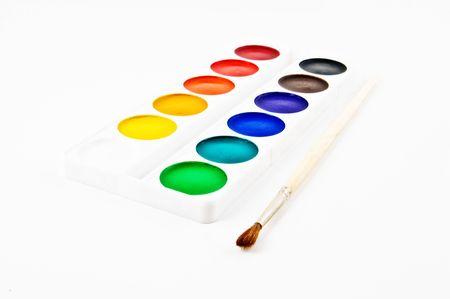 Paints and brushe Stock Photo - 4743451