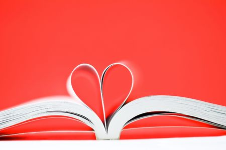 pages of a book curved into a heart shape Stock Photo - 5393773