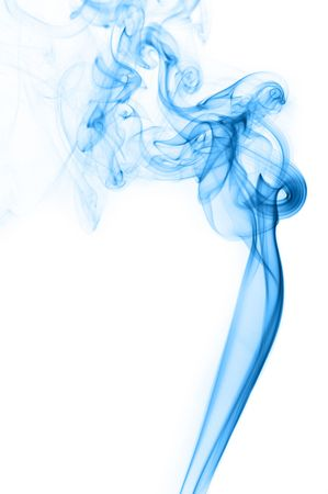 notional:  Blue Smoke on white  Stock Photo