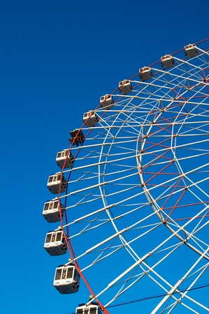 ferris wheel on blue background