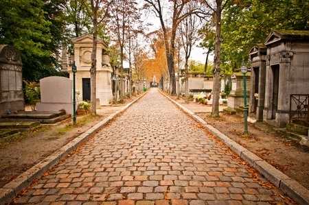 paris street: Pere-lachaise cemetery, Paris, France