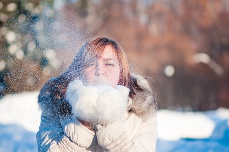 Young woman winter portrait. photo