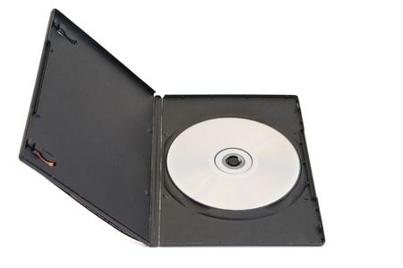 rewritable: disk and a blank box for the disk are on white background
