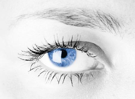 L'occhio umano. riprese macro