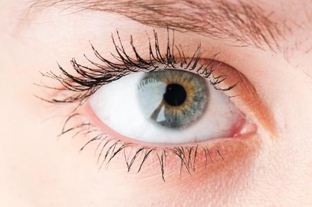 female eyes: Human eye. macro shooting