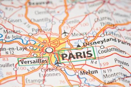 Paris on a map photo