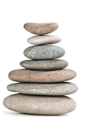 stones in balanced pile  photo