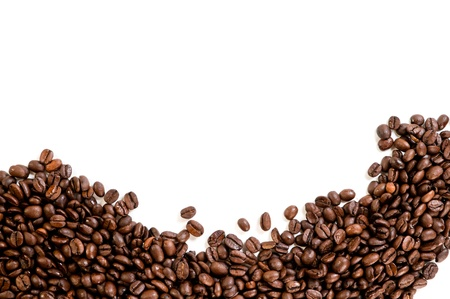 Coffee beans on the white background with copy space Stock Photo - 12913712