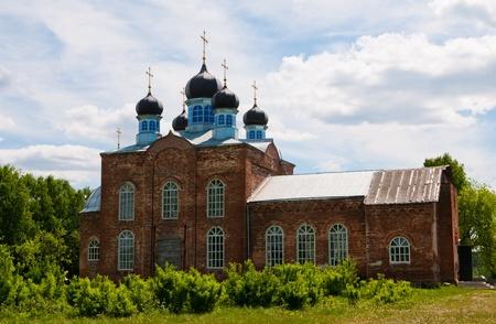Rural church. Summer beaautiful landscape  Stock Photo - 12912787
